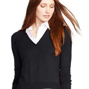Lauren Ralph Lauren Layered V Neck Sweater Large